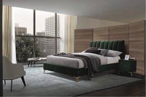 Expedo Čalouněná postel ORION Velvet, 160x200, zelená