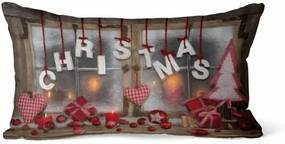Domarex Svietiaci vankúšik s LED svetielkami Christmas, 30 x 50 cm
