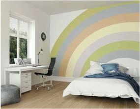 ohpopsi Fototapeta - Pastel Rainbow 350x280 cm