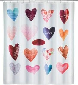 Sprchový záves Wenko Love, 180 × 200 cm