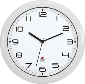Nástenné hodiny biele