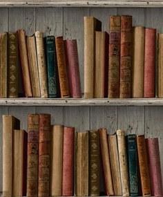 Vliesové tapety, knižnica, Facade FC3401, GRANDECO, rozmer 10,05 m x 0,53 m