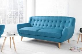 Sedačka Scandinavia II 3-sedačka modrá retro štýl