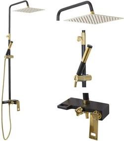 Rea Gio - sprchový set, čierna/zlatá, REA-P9860