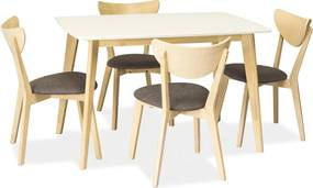 SIGNAL Combo jedálenský stôl biela / biely dub