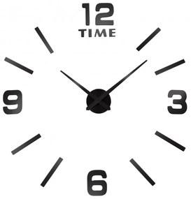 TZB Nástenné hodiny Diy BAST 3D - čierne
