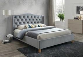 Expedo Čalúnená posteľ CADERA Velvet, 160x200, bluvel 14