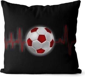 Vankúš Futbalový pulz (Veľkosť: 55 x 55 cm)