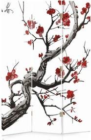 CARO Paraván - Japanese Cherry 2   trojdielny   obojstranný 110x180 cm