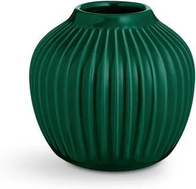 Zelená kameninová váza Kähler Design Hammershoi, výška 12,5 cm