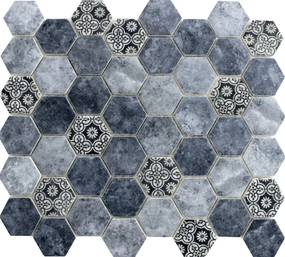 Sklenená mozaika Premium Mosaic azul 28x32 cm mat PATCHWORK45AZ