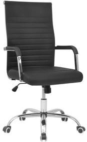 28fc55908226 Čierne kancelárske kreslo z umelej kože 55 x 63 cm
