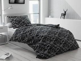 Krepové obliečky Zuzana čierna Rozmer obliečok: 2 ks 70 x 90 cm, 200 x 220 cm