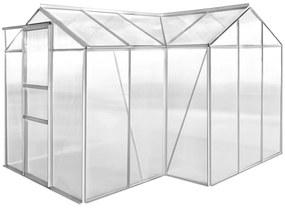 Hliníkový skleník, 1 sekcia s dutým panelom