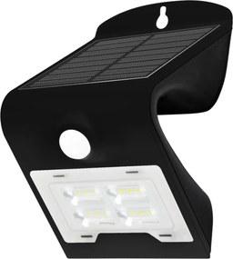 Solárne nástenné svietidlo so senzorom LED/2W IP65 čierne