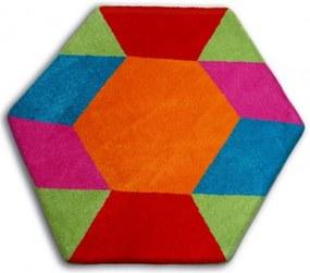 Detský kusový koberec Drak viacfarebný, Velikosti 80cm
