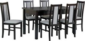 Stôl MODENA I + stoličky BOSS XIV (6ks.) - súprava DX19