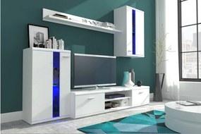 Biela obývacia stena LIVE - matná