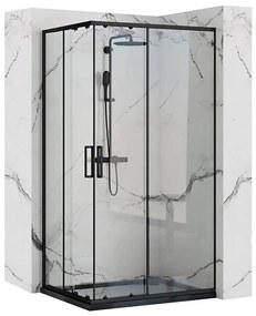 REA - PUNTO BLACK MAT sprchový kút  80 x 100 cm, číre sklo/čierny profil, REA-K4806