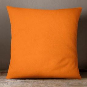 Goldea bavlnená obliečka na vankúš - oranžová 30 x 50 cm