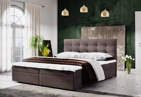 Čalúnená posteľ LAKE 2 + rošt + matrac, 180x200, Cosmic 800