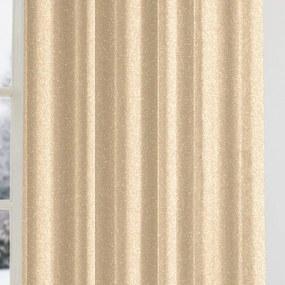 Goldea vianočný exkluzívny záves - zlatý s trblietkami 200x140 cm