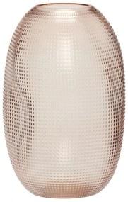 Hübsch Sklenená váza Dot Pink Glass