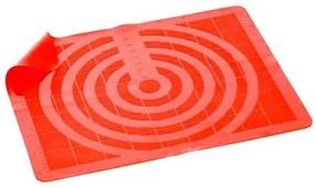 BANQUET Silikónová podložka 50x40cm Culinaria RED, váha 250 g, Mierkové relief 3124040R