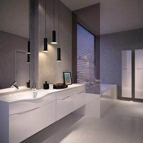 HOPA - Koupelnový nábytek Diuna skříňka vysoká boční levá, 330 × 1770 × 317 mm (NAD3320L