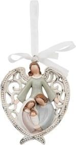 Vianočná ozdoba BETLEHEM s anjelom polyresin
