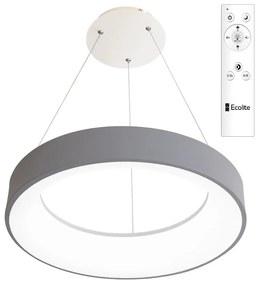 LED závesný prstenec NEST 40W s DO šedý
