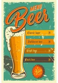 Ceduľa Beer Menu 2