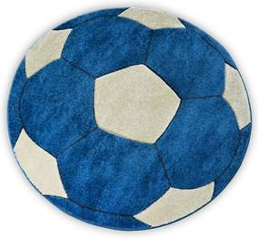 Detský kusový koberec Lopta modrý kruh, Velikosti 80cm