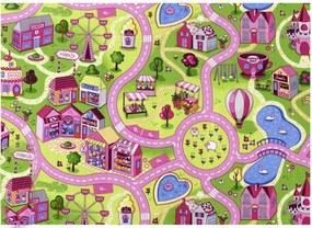 Vopi koberce AKCE: 80X120 Metrážový koberec silnice Sweet Town - Rozměr na míru s obšitím cm