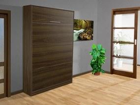 Nabytekmorava Sklápacia posteľ VS 3054 P - 200x120 cm nosnost postele: štandardná nosnosť, farba lamina: orech 729