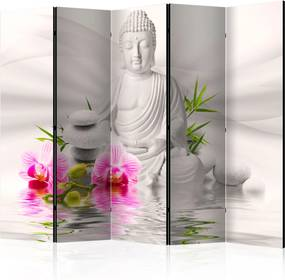 Paraván - Buddha and Orchids II [Room Dividers] 225x172