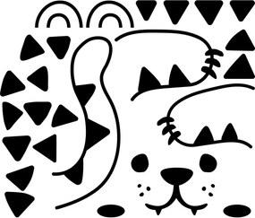 Fanastick Samolepka na dvere Veselá mačička