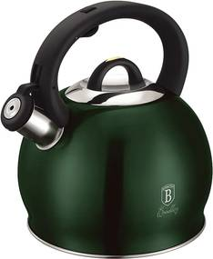 Čajník, 3 l, metalická zelená Emerald, BERLINGERHAUS BH-1076