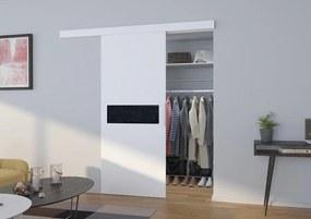 Posuvné dvere interiérové Cube - biela - 03 - 106 cm