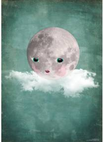 OMM Design Plagát 50x70 Moon on Cloud