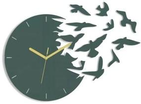 Mazur 3D nalepovacie hodiny Swallows sivé
