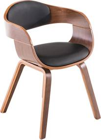 Konferenčná / jedálenská stolička Kingdom orech (Súprava 2 ks), čierna