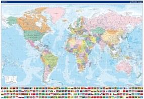 Svet - politická mapa, 2 lišty
