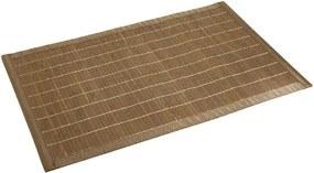 Tmavá kúpeľňová podložka z bambusu Wenko, 50 × 80 cm