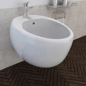 Biely keramický závesný bidet