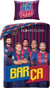 Halantex povlečení FC Barcelona 8017BL 140x200cm + 70x90cm