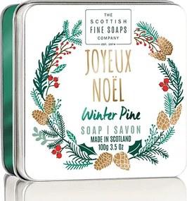 SCOTTISH FINE SOAP Vánoční mydlo v plechu - Šťastné a veselé, 100g