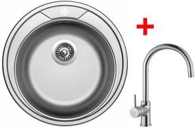 Set Sinks ROUND 510 V matný + batéria VITALIA
