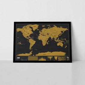 LUCKIES Stieracia mapa sveta DELUXE XL