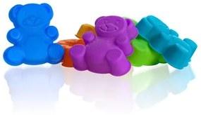 BANQUET CULINARIA Sada silikónových formiček 7,5 cm, mix farieb, medvedík 3122070MIX